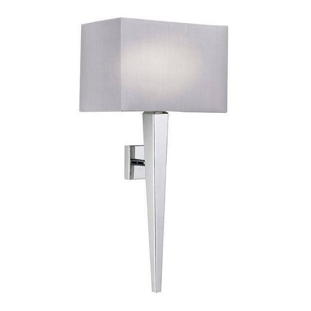 Endon MORETO-1WBCH Chrome Wall Light Complete With Shade