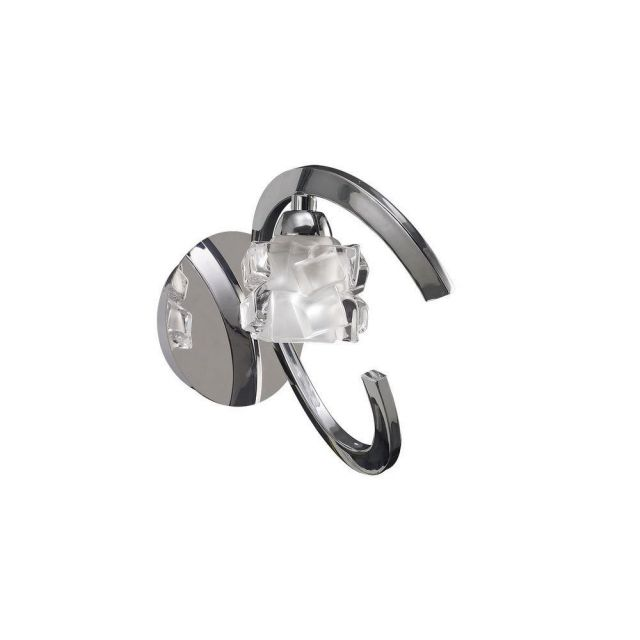 Mantra M1845/S Ice 1 Light Switched Wall Light In Chrome