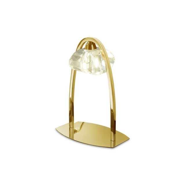 Mantra M0563FG Alfa 1 Light Table Lamp In French Gold
