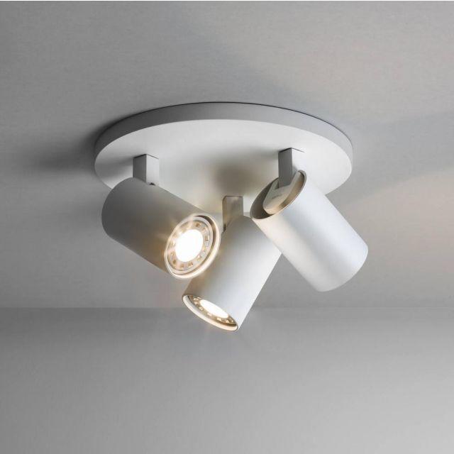 Astro 6143 Ascoli Triple Round White Plate Ceiling Spotlight
