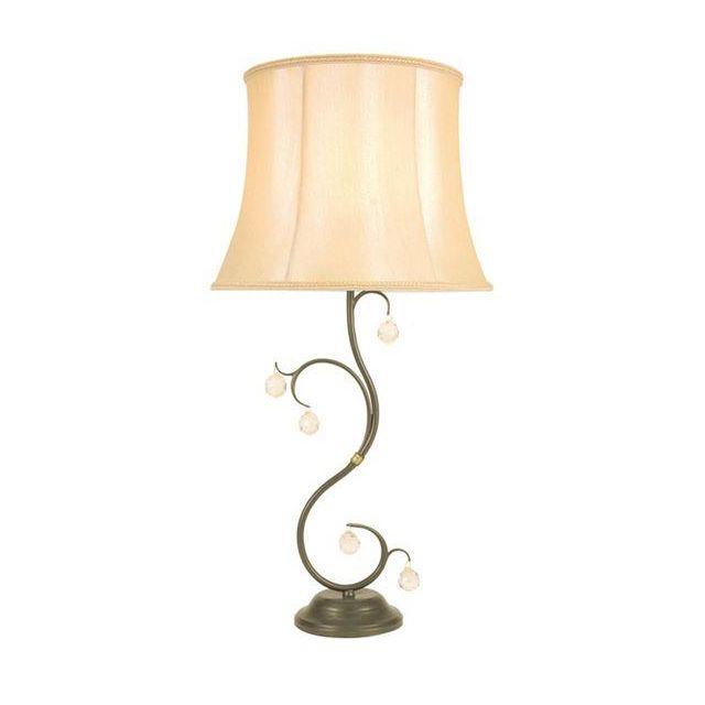 Elstead LUN/TL Bronze Lunetta crystal table lamp