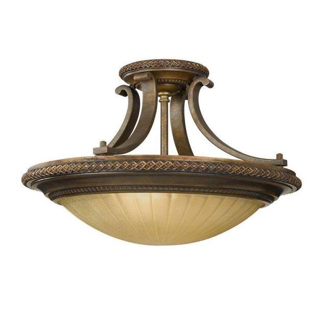 FE/KELHAMHALL/SF Kelham 2 Light Bronze Semi Flush Light