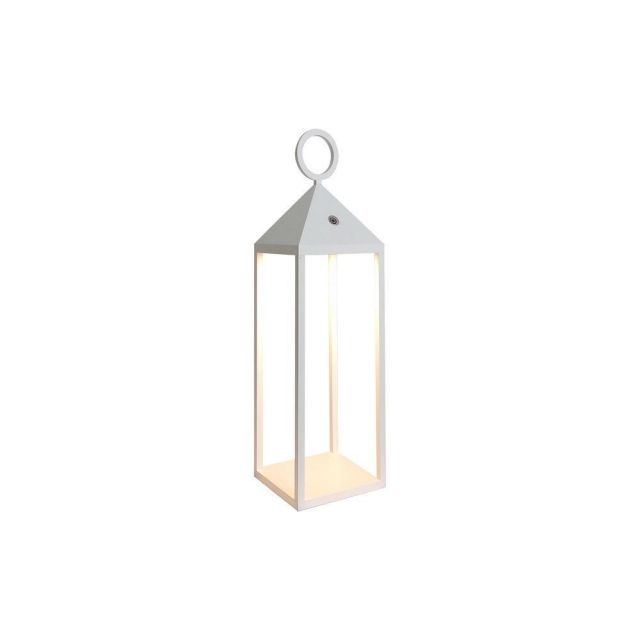 Mantra M6905 Astun Outdoor Small LED Lantern In White - H: 470mm