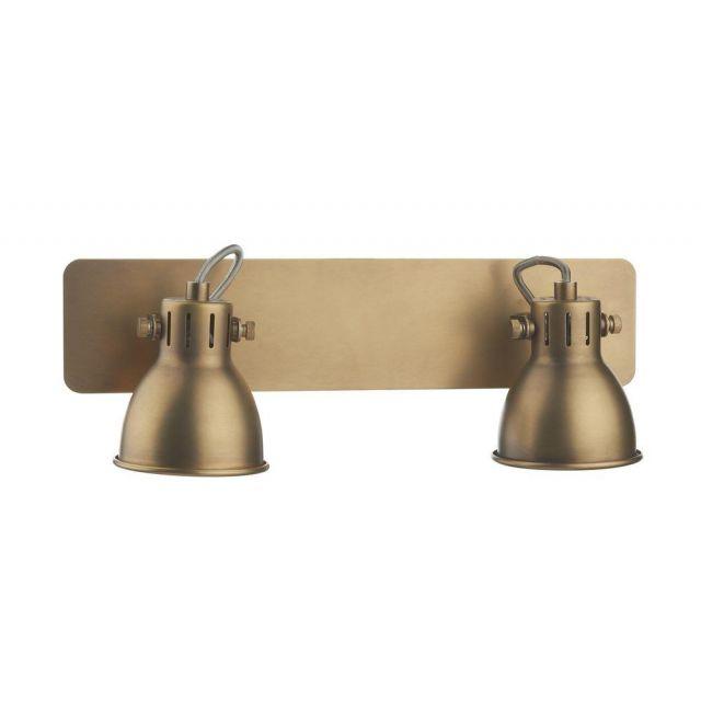 Dar IDA7775 Idaho 2 Light Bar Spotlight in Natural Brass