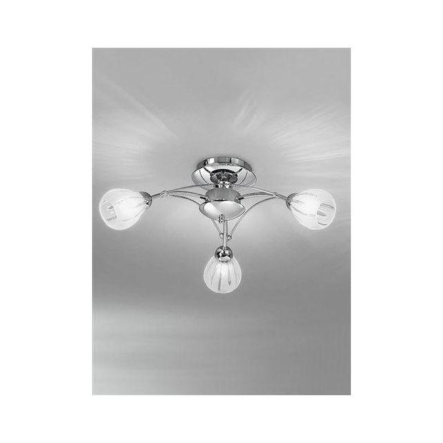 F2206/3 Flush Ceiling Light In Chrome