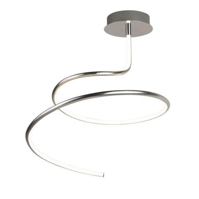 Searchlight 3321SS Magic Semi Flush Spiral Ceiling Light In Satin Silver