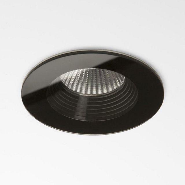 Astro 1254016 Vetro One Light Round Recessed Ceiling Downlight In Black - D: 85mm