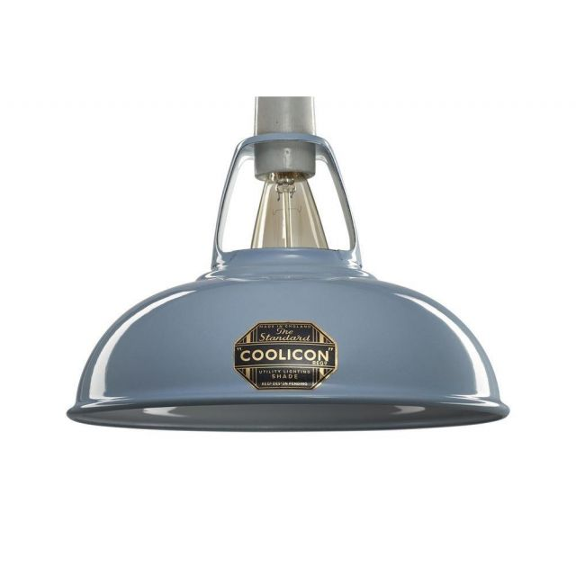 Coolicon 1 Light Small Classic Ceiling Pendant In Sky Blue - Dia: 228mm