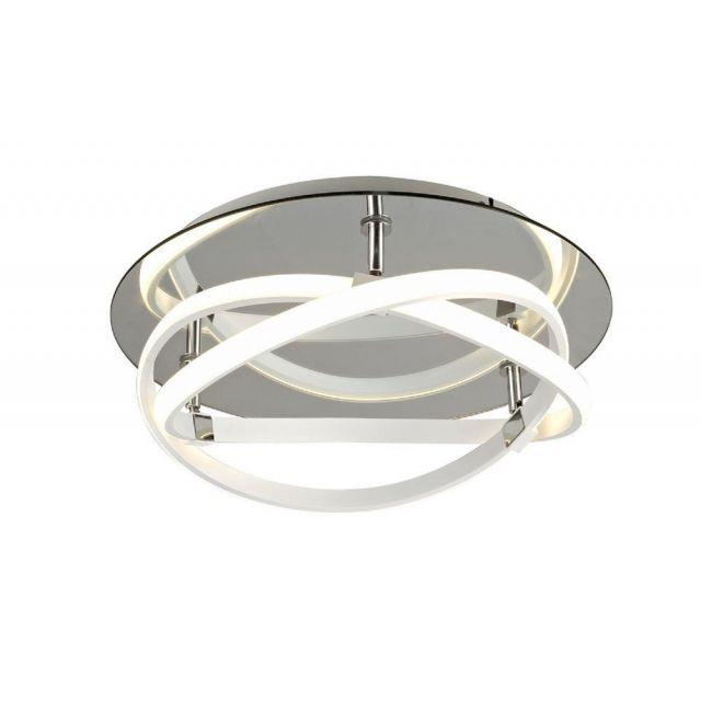 M5992 Infinity LED Flush Ceiling Light In White