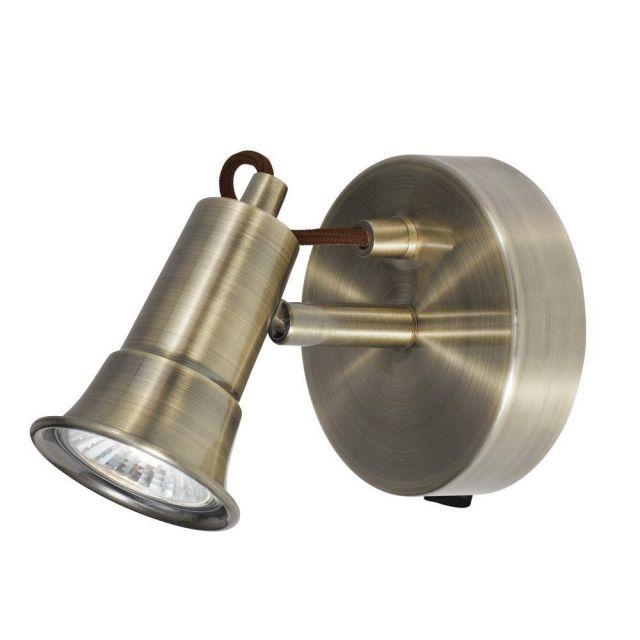 Searchlight 1221AB Eros Antique Brass 1 Way Traditional Wall Spotlight