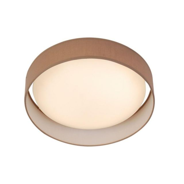 Searchlight 9371-50BR Gianna Flush Ceiling Light In Brown - Dia: 500mm
