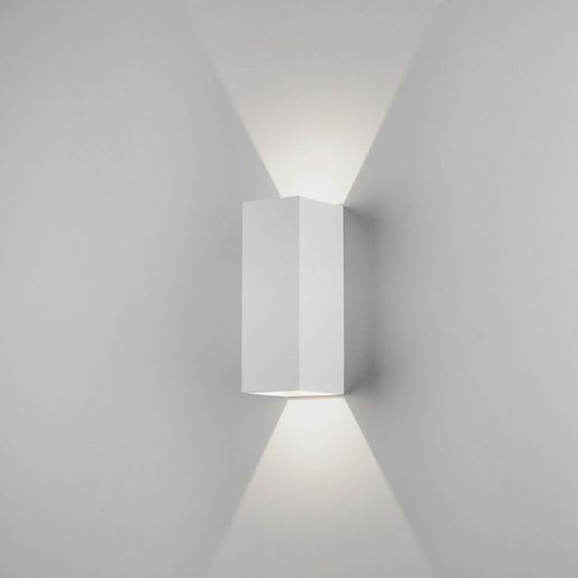 Astro 1298009 Oslo Two Light LED Outdoor Wall Light In White - Height: 225mm