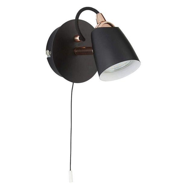 Retro/Industrial Design Black/Copper Spot Light Fitting - LED Compatible
