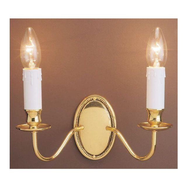 SMBB00052/PB Georgian, Traditional 2 Light Brass Wall Light