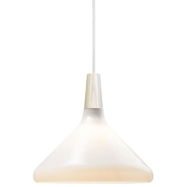 Nordlux 43213001 Float 27 1 Light Ceiling Pendant In Nordic Opal White And Ash Wood - Dia: 270mm