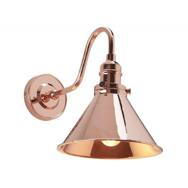 PV1 CPR Provence 1 Light Wall Light In Polished Copper