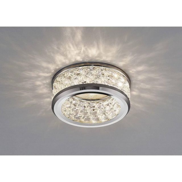 Inspired IL30835CH Dante Three Level Crystal Recessed Ceiling Downlight In Chrome