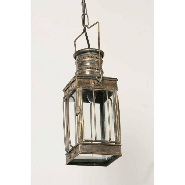 Small 422S Traditional Solid Brass Cargo 1 Light Lantern