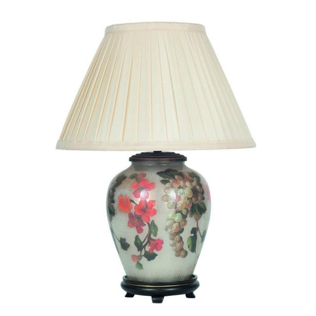 Jenny Worrall JW58 Fruit And Flower Table Lamp With 12 Inch Almond Shade