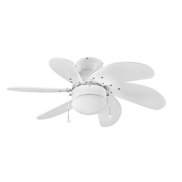 Fantasia 111573 Atlanta Ceiling Fan In White With Light