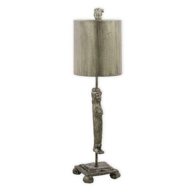 FB/CARYATID-S 1 Light Aged Silver Table Lamp