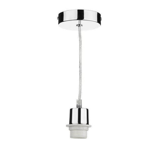 Dar SP65 1 Light Clear Cable/Chrome Suspension For Lotus Range