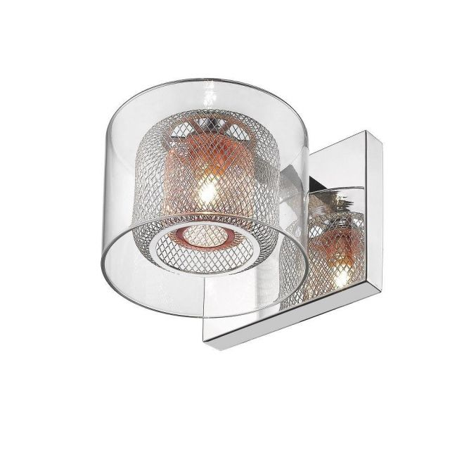 Impex PGH606101/01/WB/CH Laure One Light Wall Light In Chrome And Copper