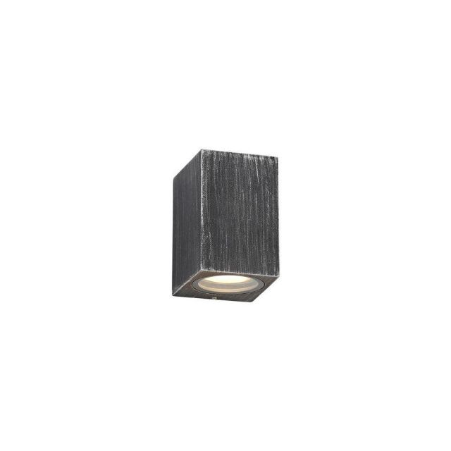 Poole 1 Light Rectangular Outdoor Wall Light In Black And Silver