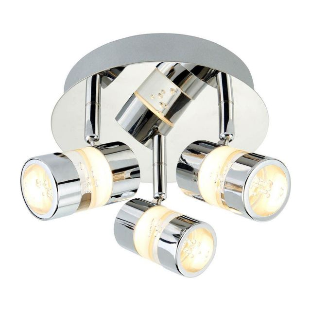 Searchlight 4413CC Bubbles LED Triple IP44 Bathroom Ceiling Spotlight