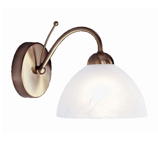 Searchlight 1131-1AB Milanese 1 Light Wall Light In Antique Brass