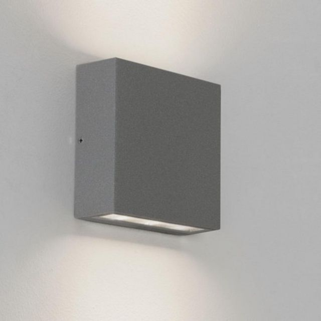 Astro 1331004 Elis Twin Outdoor Wall Light in Painted Silver Finish