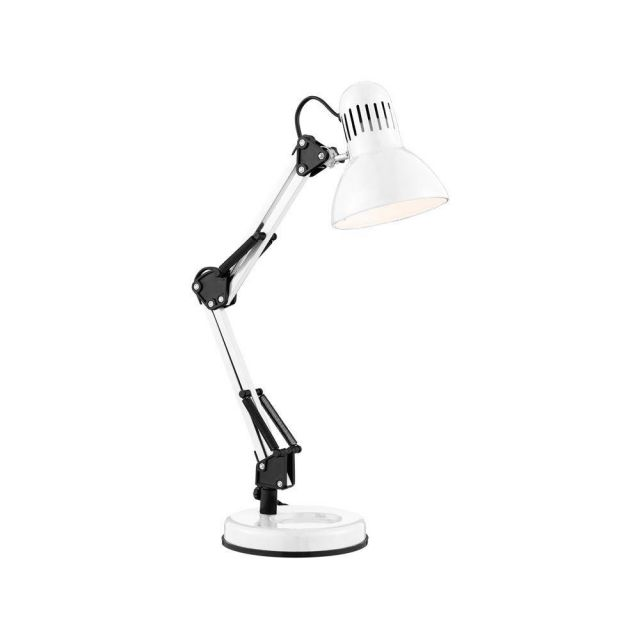 Searchlight 2429WH Hobby 1 Light Table Lamp In Shiny White
