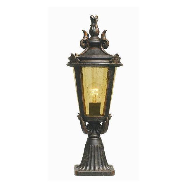 Elstead BT3/M Baltimore Medium exterior pedestal lantern, IP43