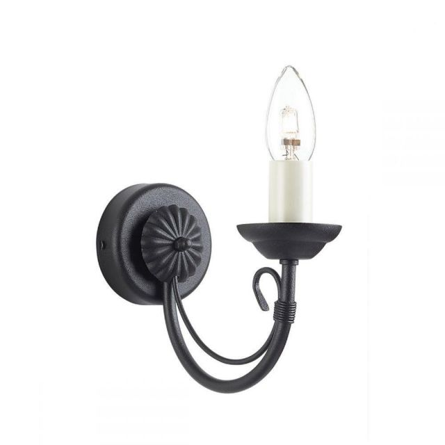 Elstead CH1 BLACK Chartwell 1 Light Wall Light In Black - Fitting Only