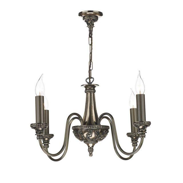 David Hunt Lighting BAI0463 Bailey 4 Light Bronze Ceiling Pendant