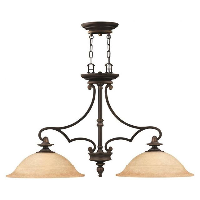 HK/PLYMOUTH/ISLE Plymouth 2 Light Chandelier with Shades