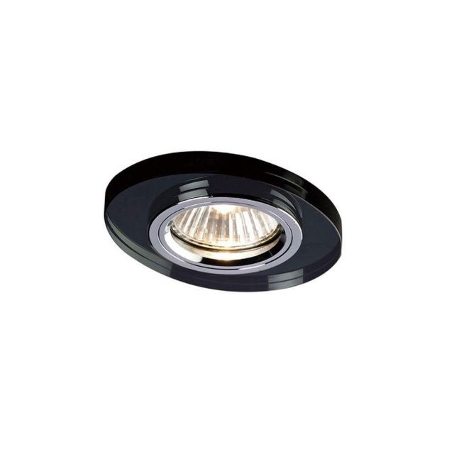 Diyas IL30808BL Recessed Oval Downlight In Black - Frame Only