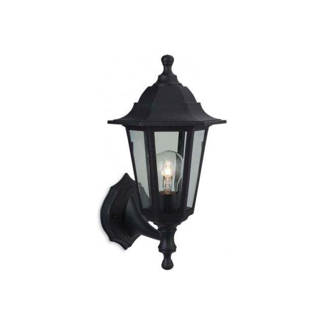 Firstlight 8349BK Malmo Uplight or Downlight (2-in-1 fitting) Wall Lantern In Black Resin