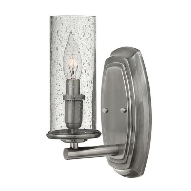 HK/DAKOTA1 Dakota 1 Light Wall Light In Polished Antique Nickel