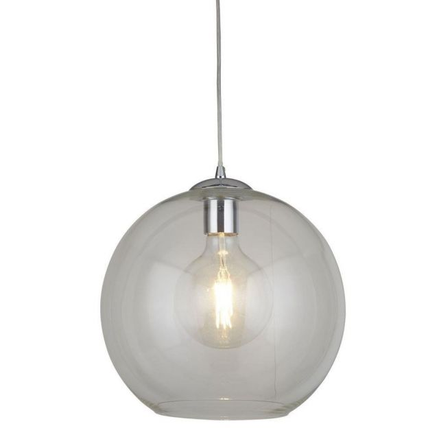 Searchlight 1635CL Balls One Light Ceiling Pendant In Chrome And Clear Glass - Width: 360mm