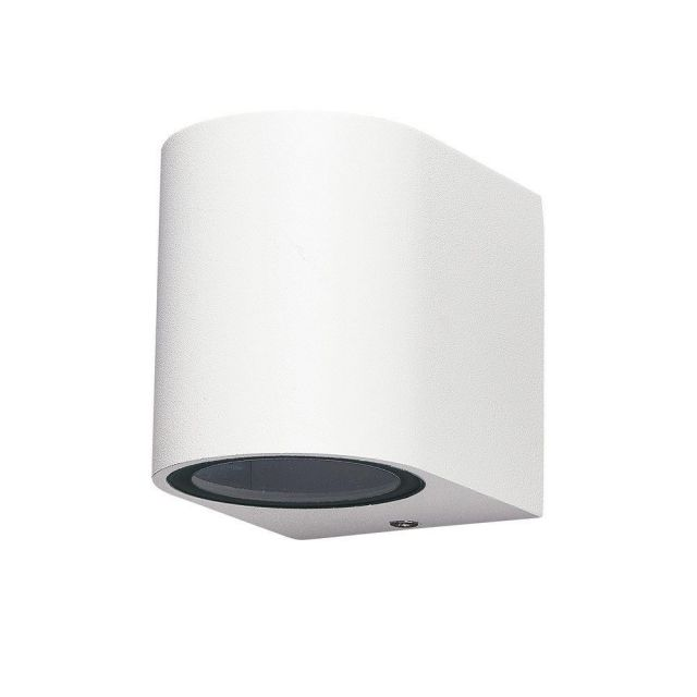 Mantra M6513 Kandanchu 1 Light Round Outdoor Wall Light In Sand White - H: 80mm