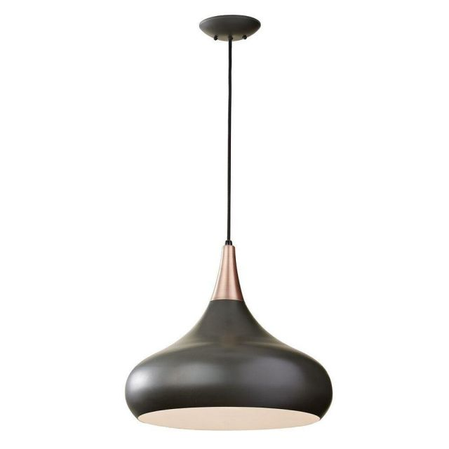 Elstead FE/BESO/P/L DBZ Beso 1 Light Large Ceiling Pendant Light In Dark Bronze