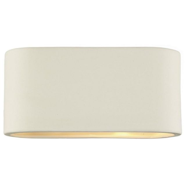Dar AXT372 Axton Large Matt Ceramic Wall Light