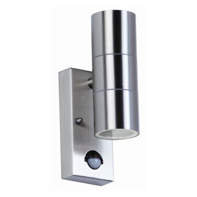 Endon EL-40062 Outdoor Stainless Steel Sensor Double Wall Light
