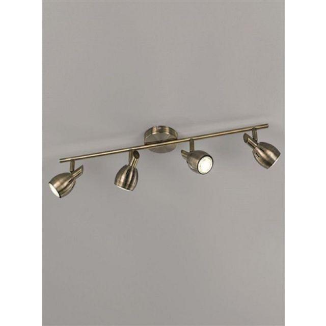 SP9014 Lazio 4 Light Bar Ceiling Light In Bronze With Fully Adjustable Spotlights