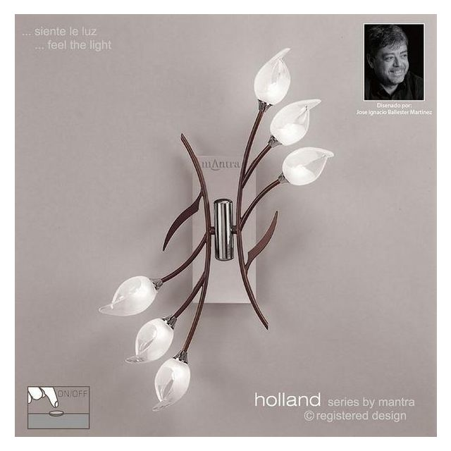 M0124/S Holland 6 Light Chrome Switched Wall Lamp
