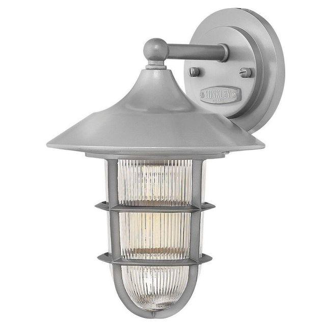 HK/MARINA2/S Marina 1 Light Small Wall Lantern Light In Hematite - Height: 296mm