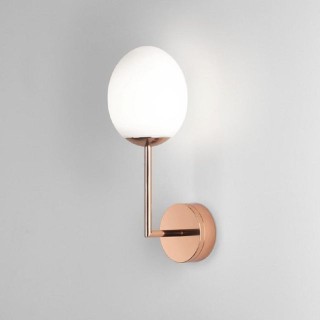 Astro 1390001 Kiwi One Light Wall Light In Copper With White Shade
