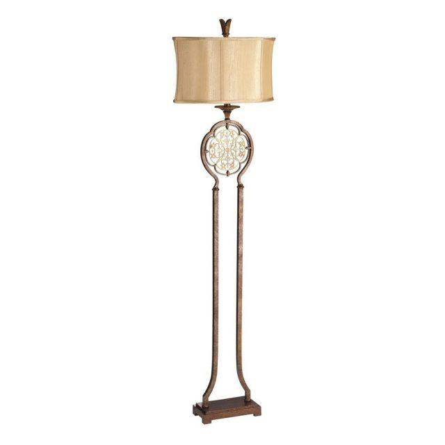 FE/MARCELLA/FL Marcella Bronze Floor Lamp with Shade