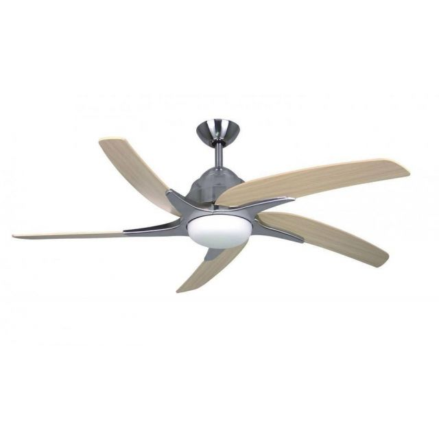 Fantasia 116028 Viper Plus 44 Inch Stainless Steel Fan With Maple Blades And LED Light